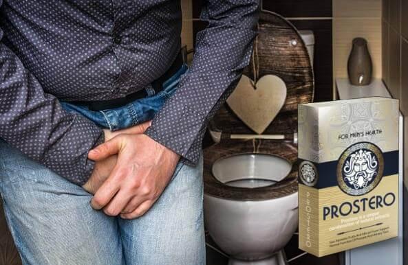 prostero опаковка, мъж в тоалетна, проблем с простата