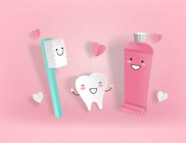 четка и паста за бели зъби
