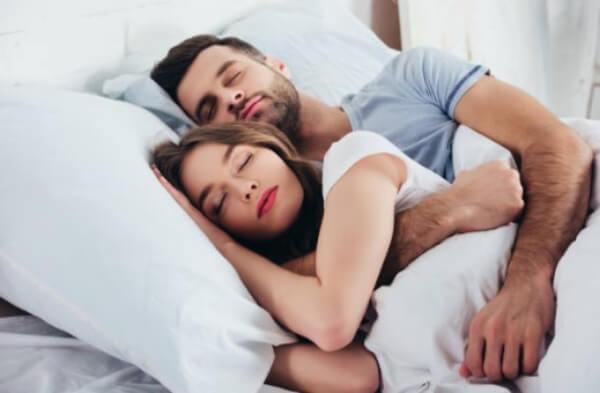 двойка, сън, спане