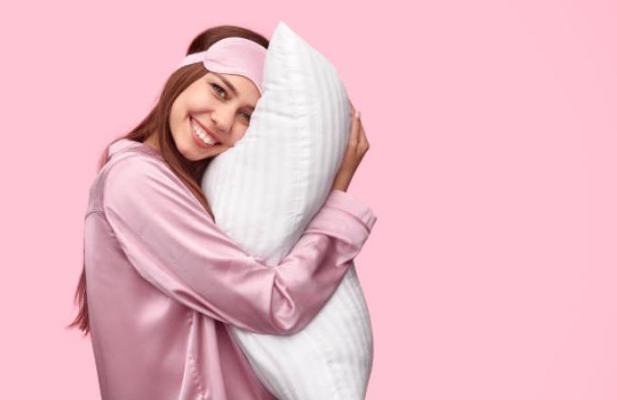 маска за сън, жена, възглавница