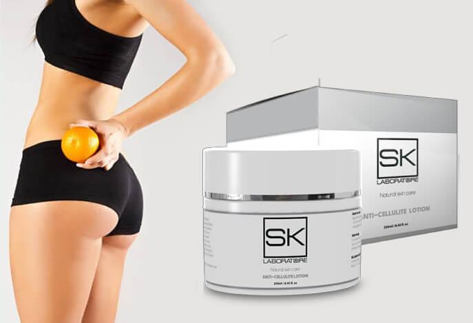 SK Cellulitis, donna con arancia