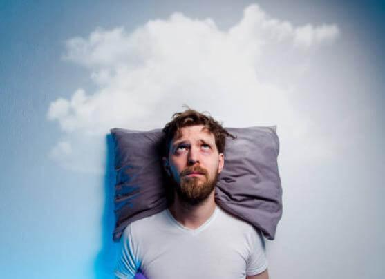 man, pillow, cloud