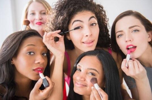women, makeup