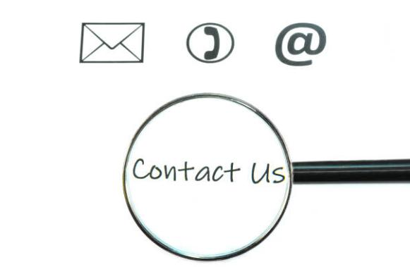email, phone, contact us