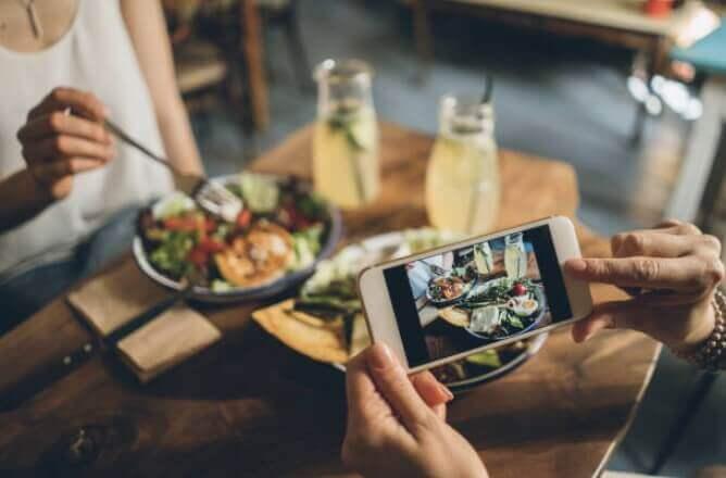 smartphone, foods