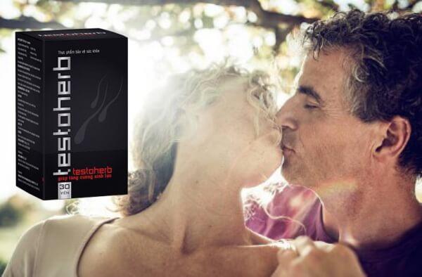 couple kissing, testoherb