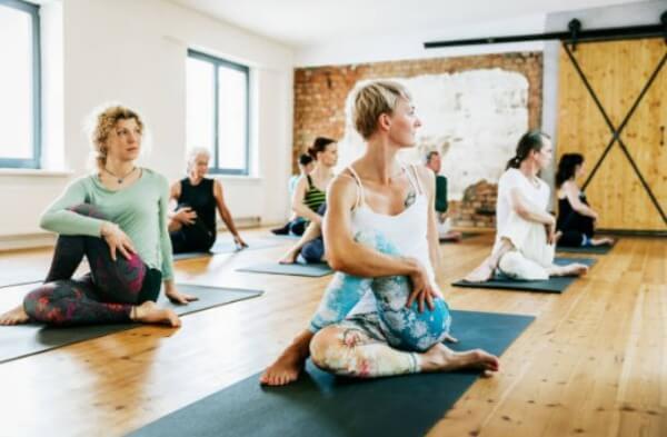 women, yoga