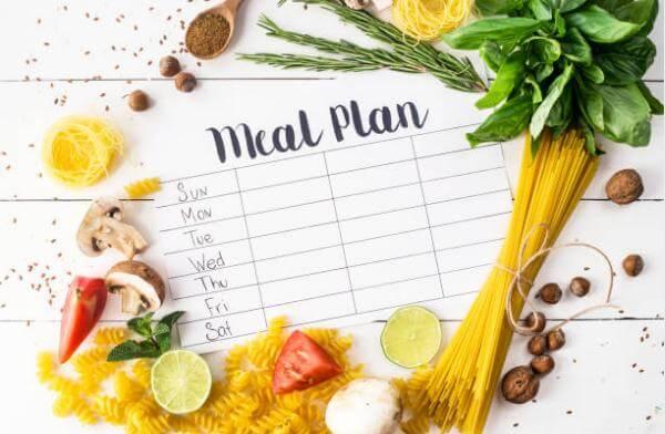 diet plan, pasta