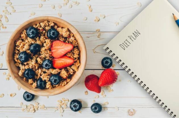bowl fruits, plan