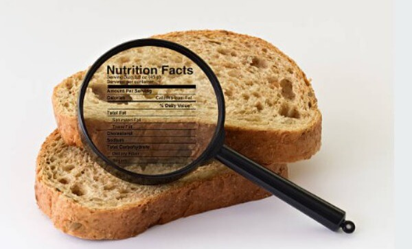 bread, nutrition facts, carbohydrates