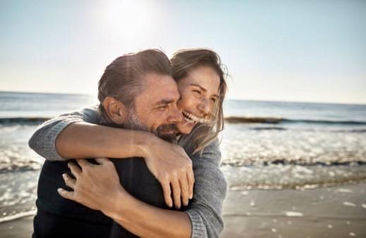 couple, sea
