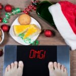 overeating, weight scale, christmas