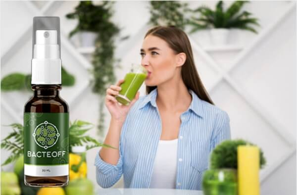 bacteoff spray, woman, detox