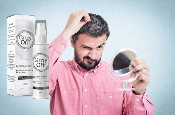 man, gray hair, spray