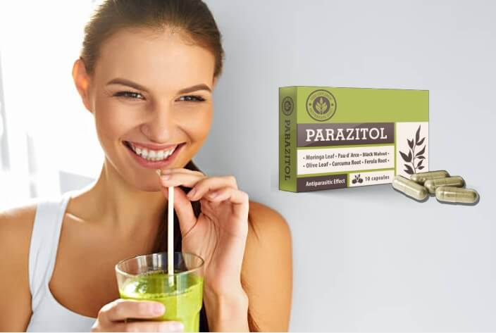 parazitol capsules, woman, detox, parasites