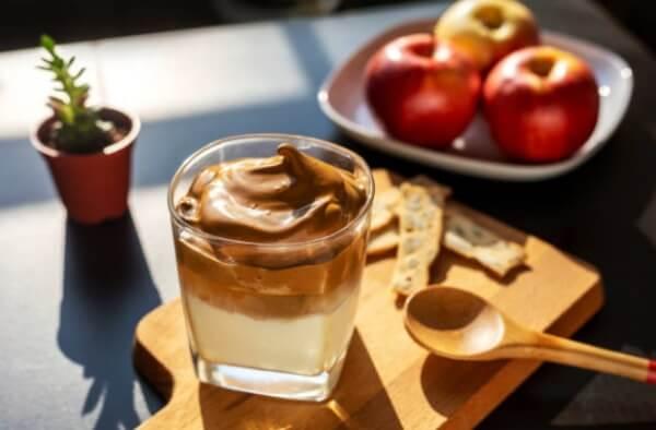 coffee, apples