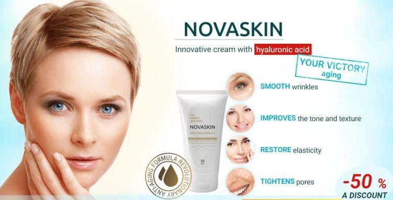 novaskin cream, face, woman, wrinkles
