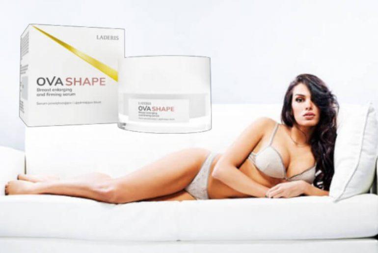ovashape cream, woman, bust, boobs