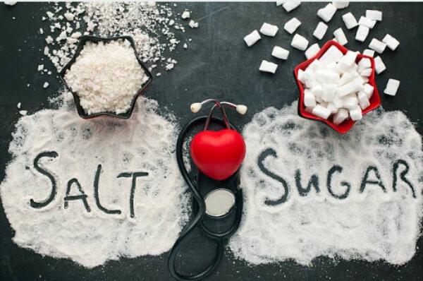 sugar, salt, heart