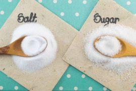 sugar, salt