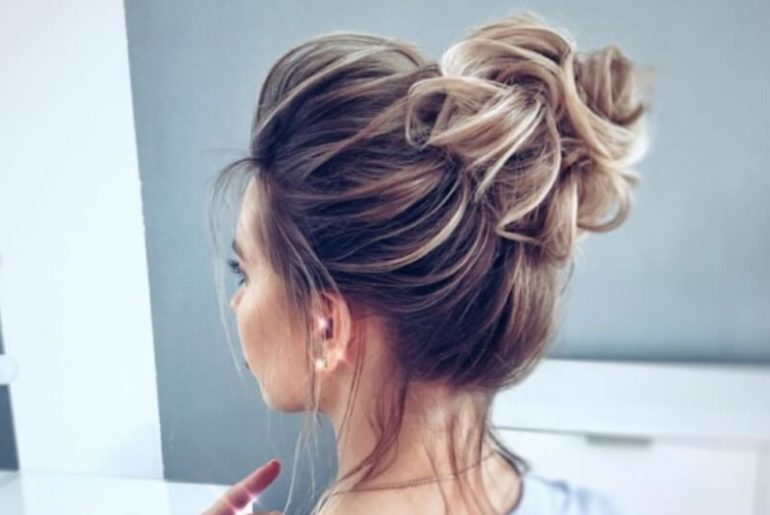tophair bun wig