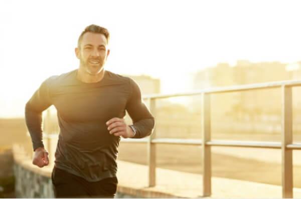man, jogging