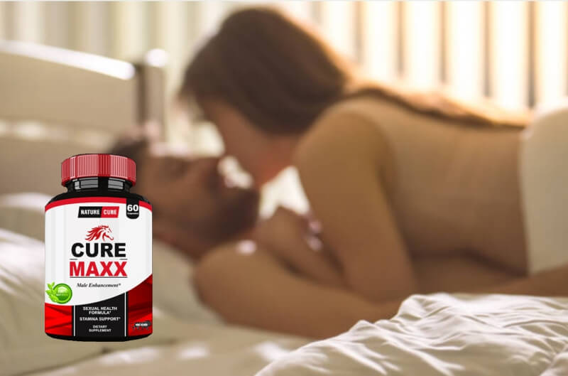 cure maxx capsules, couple in bed, sex, erection
