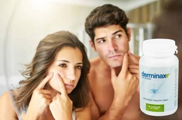 derminax capsules, woman, man, acne