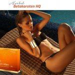 herbal betakaroten hq capsules, betacarotene, tanning, sun bath, woman
