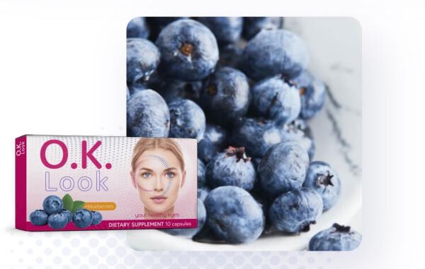 blueberries, capsules