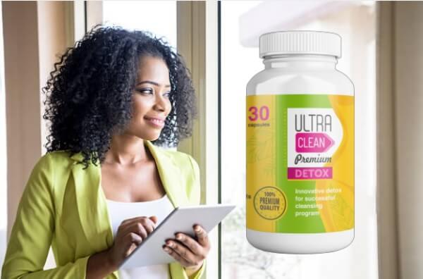 order ultra clean premium detox capsules, woman