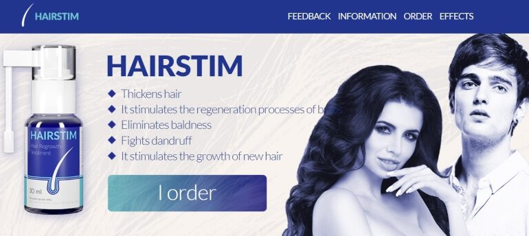 hairstim spray results, hair loss