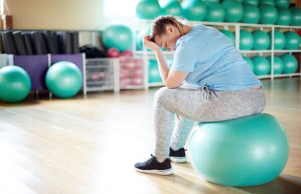 woman, overweight, exercise