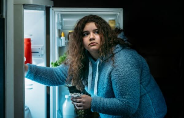 overweight, obesity, woman, fridge