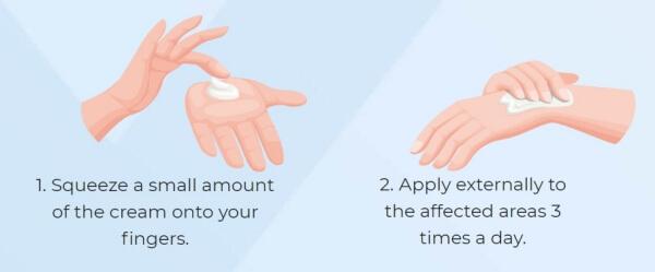 applying cream, instructions of use