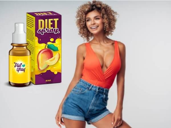 diet spray, slim woman, weight loss