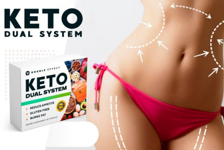 Keto Dual System capsules, woman, weight loss, slimming