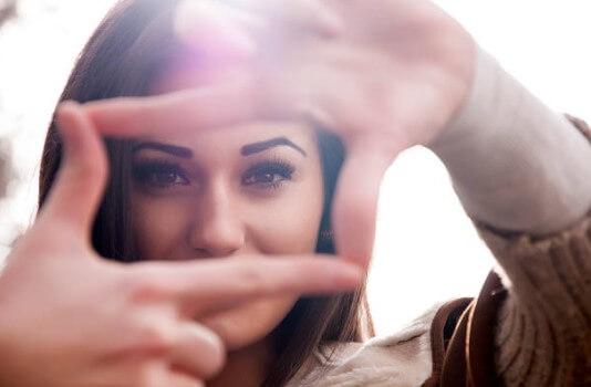 woman, frame, eyes