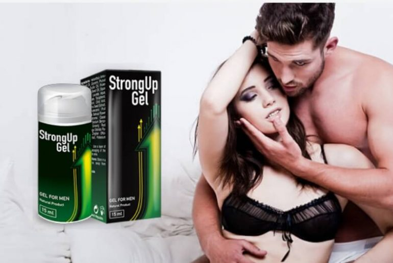 strongup gel for real man, intimacy, couple, erection