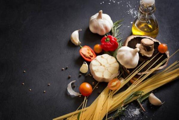 garlic, pasta