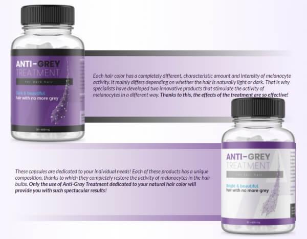 Anti-Grey Treatment ingredients