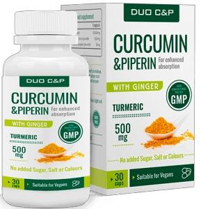 Duo C&P Curcumin & Piperin 30 Capsules Review